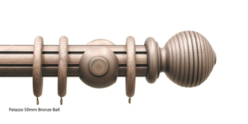 Palazzo 50mm bronze reeded ball