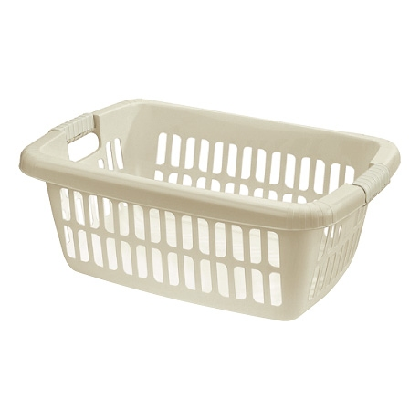 40L RECTANGULAR LAUNDRY BASKET WHITE