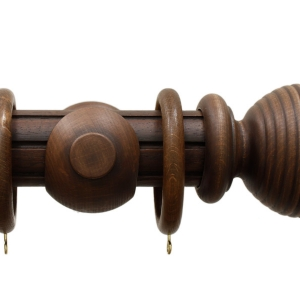 Palazzo 50mm Antique Walnut Reeded Ball