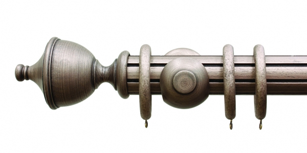 Palazzo Reeded Antique Bronze Urn Finial