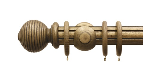 Palazzo Reeded Antique Gold Ball Finial