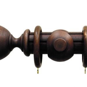 Palazzo Reeded Antique Walnut Urn Finial