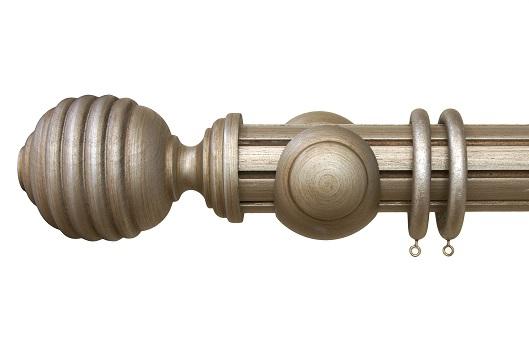 Castello Reeded Ball Antique Silver
